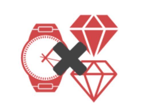 時計や宝石は返品保証対象外